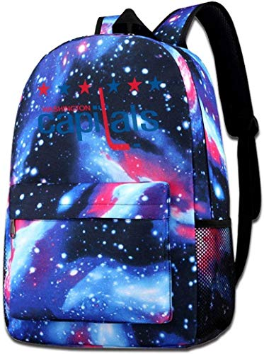 School Bag Capital Hockey Starry Sky Book Bag Quality Big Galaxy Backpack