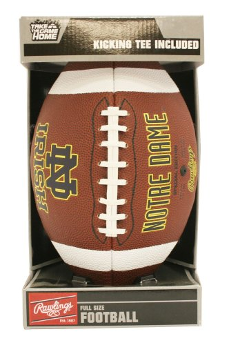 NCAA Game Time Full Size Football , Notre Dame Fighting Irish, Brown, Full Size