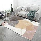 La Alfombra alfombras Dormitorio Fácil de Limpiar el diseño geométrico Negro Gris Amarillo es Duradero Puede Lavar la Alfombra alfombras Pelo Corto Salon alfombras niños 200X300CM