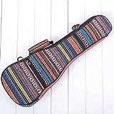 SODIAL 21 pulgadas Bolsa acolchada para guitarra baja de algodon popular Ukelele Caso cubierta de la caja de la guitarra Mochila con doble correa
