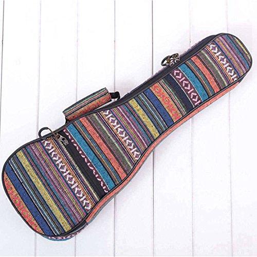 SODIAL 23 pulgadas Bolsa acolchada para guitarra baja de algodon popular Ukelele Caso cubierta de la caja de la guitarra Mochila con doble correa