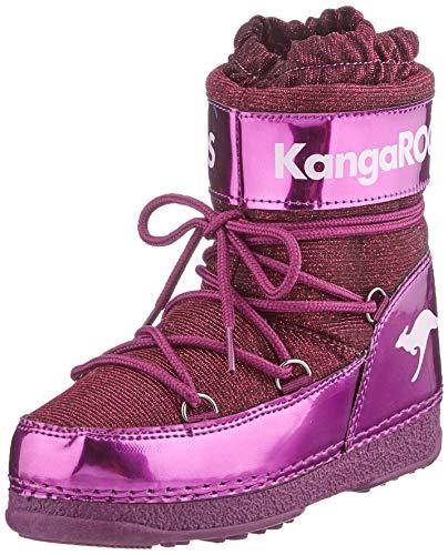 KangaROOS Unisex-Kinder K-Moon Schneestiefel, Violett (Dk Berry/Frost Pink 6029), 32/33 EU