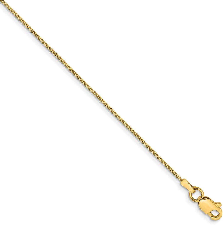 Beautiful Yellow gold 14K Yellowgold 14k .95mm Parisian Wheat Chain