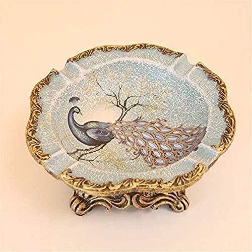 KEEBON Americano Retro Decorativo cenicero Mesa de café artesanía Resina cenicero Creativo Europeo clásico decoración Interior