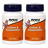 Now Foods Lutein & Zeaxanthin ルテイン ゼアキサンチン 60ソフトジェル 2個セット [海外直送品]