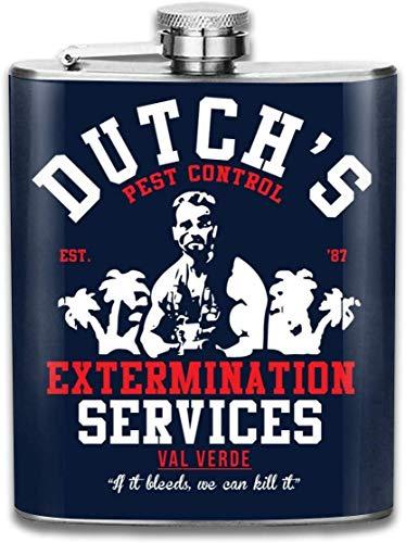Predator Holländer Extermination Services-Print Flachmann Taschenflasche Flagon 200 ml Tragbarer Edelstahl Flagon
