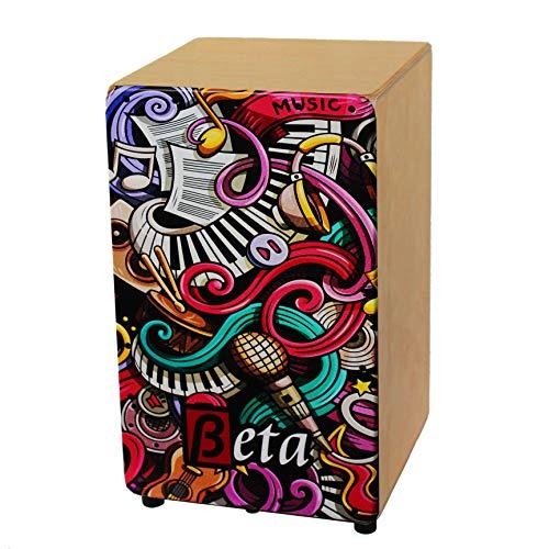 Cajón Flamenco Beta mod. MUSIC   Caja de percusión flamenca semi-profesional de abedul [AFINACIÓN DIRECTA] (color Natural)