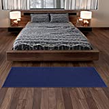 Sweet Home Stores Solid Runner Rug, Navy Blue, 2'3'' X6'