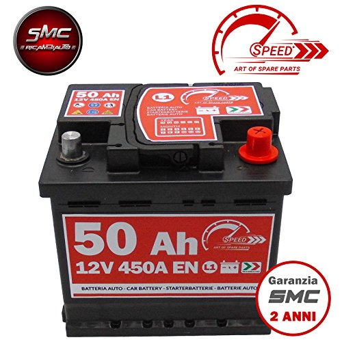 BATTERIA AUTO ORIGINALE SPEED L150-12V 50AH 450A EN CON POLO POSITIVO A DESTRA
