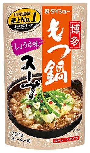 ダイショー 博多もつ鍋スープ しょうゆ味 750g 10個セ...