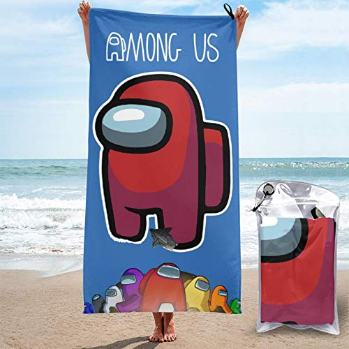 HFJFJSZ DIY Among 3D Design Outdoor Beach Towel Blanket Quick-Drying