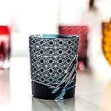 Vasos de cristal clásicos, jarra de cerveza, copa de cóctel, vaso giratorio, tallado a mano, exquisita caja de regalo, el mejor regalo para bodas, 260 ml, rojo/azul-blue