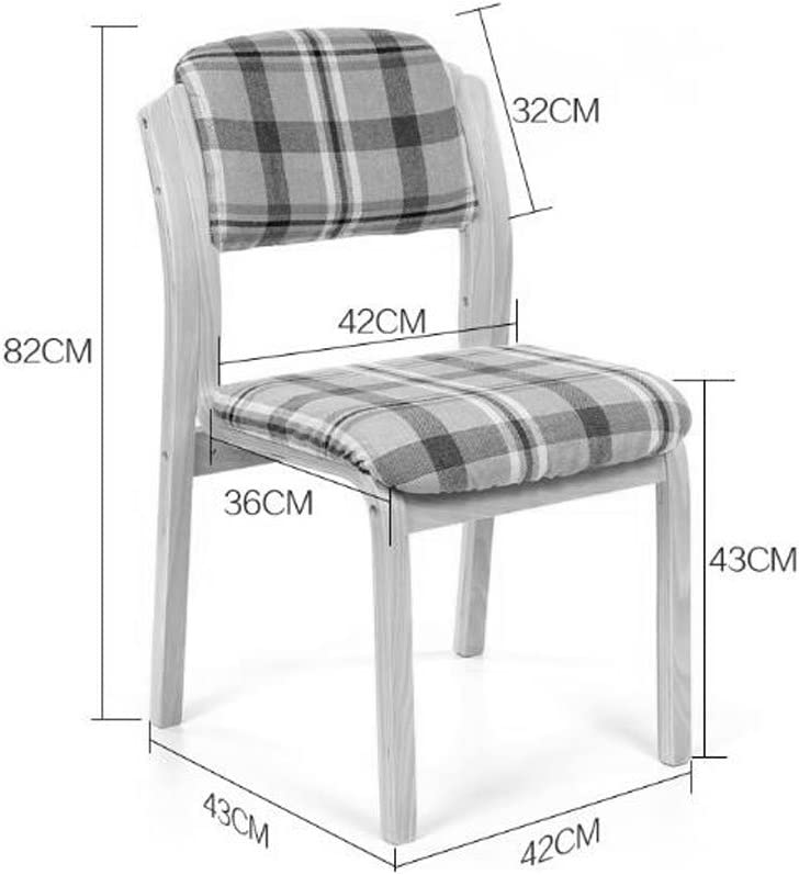 SLL- Chaise Ménage Tissu Art Café À Manger Chaise Moderne Simple Hôtel Chaises Dossier Continental Chaise de Bureau Individuelle en Bois Chaise Moderne (Color : B) A