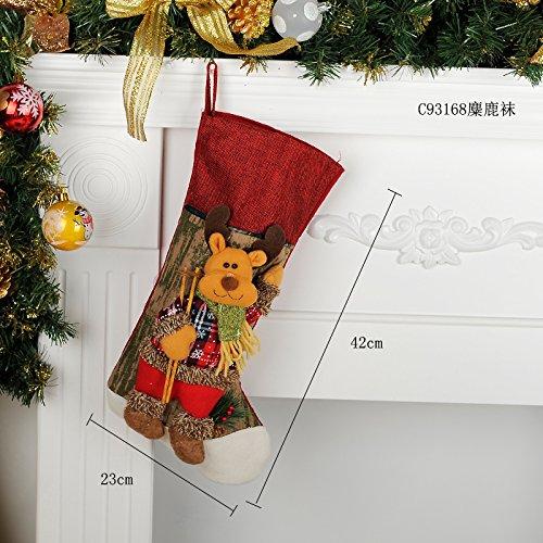 CHRIS Abito di natale, calze, buste regalo, vecchio, pupazzo di neve, cervi doni, calze, candy sacchi, decorazioni natalizie
