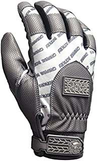 Grease Monkey Crew Chief Extreme Mechanic Gloves with Touchscreen Capabilities, Gray/White, X-Large