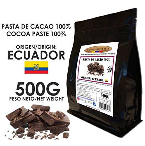 Cacao Venezuela Delta - Chocolate Negro Puro 100% · Origen Ecuador (Pasta, Masa, Licor De Cacao 100%) · 500g