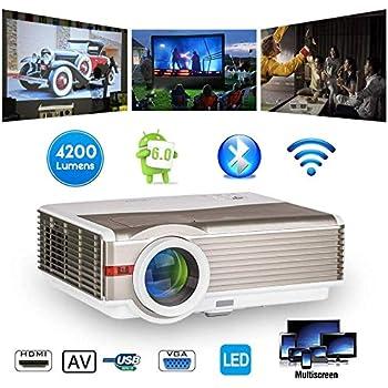 LED LCD Proyector inalámbrico Bluetooth 5000 Lumen WXGA HDMI HD ...