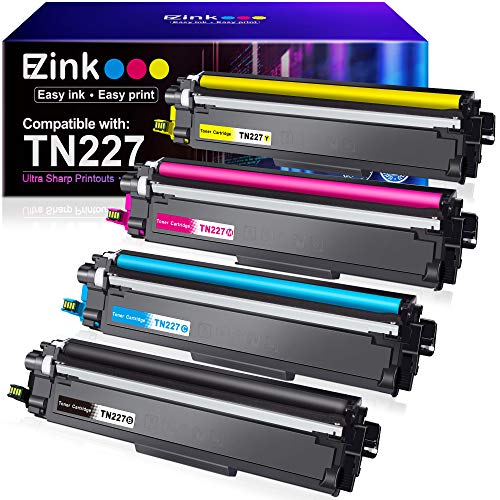 E-Z Ink (TM) High Yield Compatible Toner Cartridge Replacement for Brother TN227 TN-227 TN227bk TN223 TN-223 use with MFC-L3770CDW MFC-L3750CDW HL-L3230CDW HL-L3290CDW HL-L3210CW MFC-L3710CW (4 Pack)