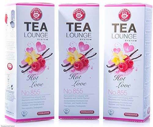 Teekanne Tealounge Kapseln - Hot Love No. 855 Früchtetee (3x8 Kapseln)