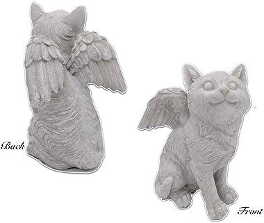 "Comfy Hour 8"" Cat Angel Figurine - in Memory of My Best Friend Bereavement, Light Gray"