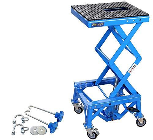 Pro-Lift-Werkzeuge Motorrad-Lift Hebebühne 135kg Montageständer Enduro 135 kg Motorrad-Heber Ständer Arbeitsbühne