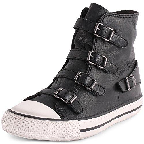 ASH Zapatillas de Mujer de Cera Virgen de napa Black UK6 EU39 US8