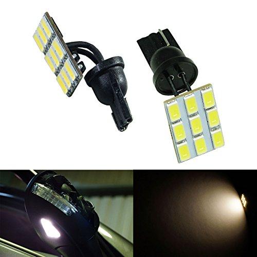 PA Lot de 2 ampoules LED courbées flexibles T10 194 9 5630 Blanc 12 V (miroir, pagaie, éclairage de plaque d'immatriculation)