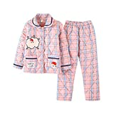 DFDLNL Conjuntos de Pijama de Invierno para Mujer, Pantalones de Dormir Acolchados de algodón, Calcetines para el hogar, camisón de salón con Pistola XXL Espesa a Cuadros Rosa