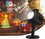 OUSFOT Navidad Luces Proyector Impermeable Exterior Decoracion con 16 Diapositivas de Patrón para Fiestas