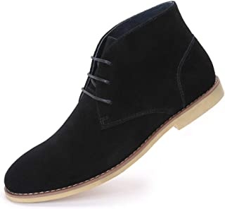Cestfini Suede Desert Chukka Boots for Men Genuine Leather Casual Lace Up Oxford Ankle Boots
