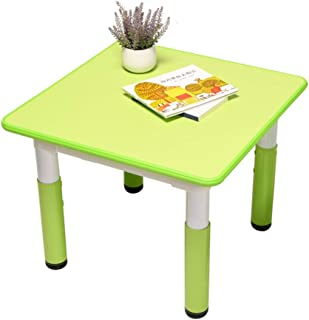 CHAXIA Child Table Chair Book Table Adjustable Height Suitable For Children Different Ages Corrective Sitting Position  Green  Color Blue  Size