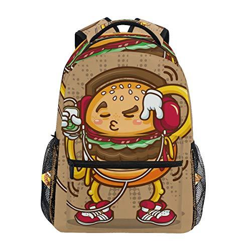 LIUBT - Mochila para estudiantes, diseño de hamburguesa