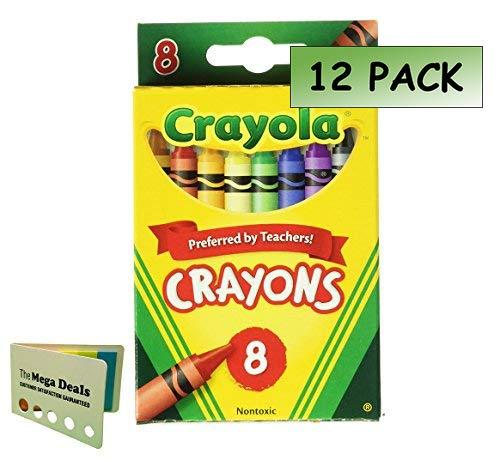 Crayola Crayons 8/Pkg 52-3008 (12-Pack) Includes 5 Color Flag Set