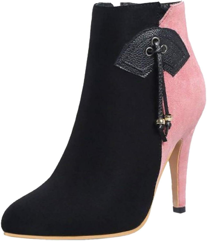 Kaizi Karzi Women High Heel Ankle Boots Zip