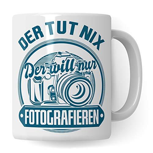 Pagma Druck Tasse Fotograf, Geschenk für Fotografen Becher, Kaffeetasse Fotografieren Spruch Objektiv Kameramann, Foto Kaffeebecher Photograf