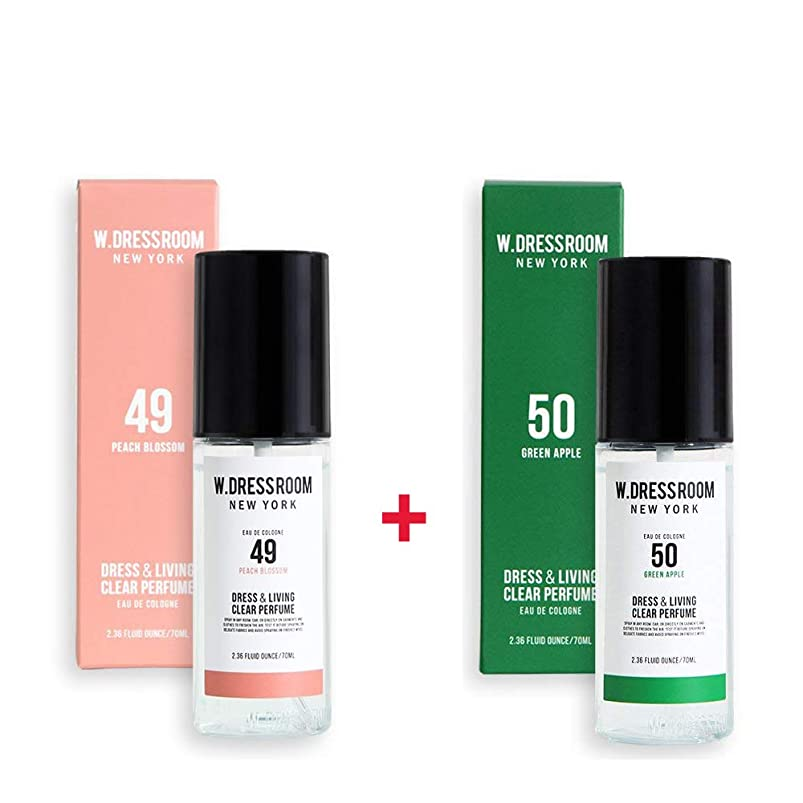 シャンプートチの実の木排泄物W.DRESSROOM Dress & Living Clear Perfume 70ml (No 49 Peach Blossom)+(No 50 Green Apple)
