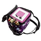 caseroxx Transporttasche für Tonie- und Tigerbox zum Umhängen transportieren mit einzigartigem Einhornmuster- lila Design, kindgerecht und hochwertig