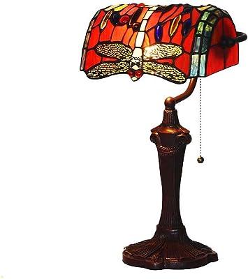 De Banquier Pouces L30308 Lampe Table 17 Libellule En Bieye Verre kTZPXuOi