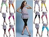 Galaxie Pack da 2 Leggings alla Capri di Cotone Leggings 3/4 Lunghezza Ginocchio, con 16 Colori (Abbigliamento)