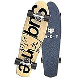 SFRMUT Principiante Tablas de Skate Cruiser Skateboard de 7 Capas de Madera de Arce Boards Completas Retro Surfskate Vintage, Skate con Rodamientos ABEC-9, Adultos Unisex, 27'