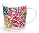 Vera Bradley Ceramic Coffee Mug/Tea Cup, Dishwasher and Microwave Safe, 12 Ounces, Rain Forest Canopy Pink