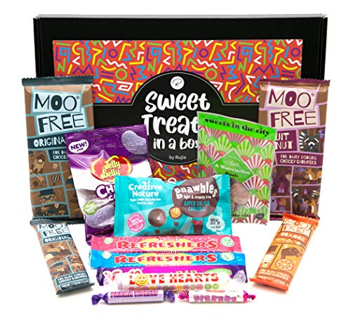 Vegan Sweets Chocolate Hamper Gift Box Ideal for Birthday Lockdown Treat Him Her Friend Kids Mum Dad Brother Sister
