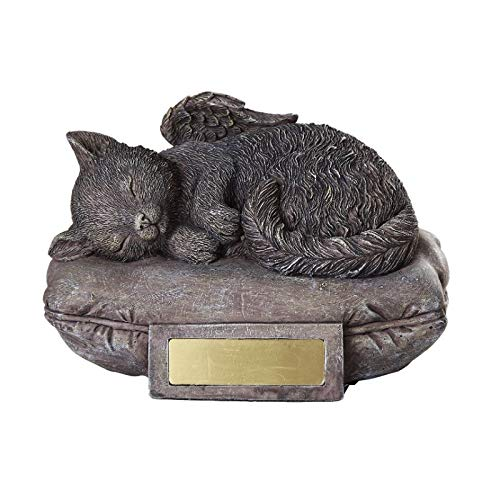 Pacific Giftware Pet Memorial Angel Cat Sleeping On Pillow Cremation Urn Bottom Load 30 Cubic Inch