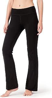 Women's Bootcut Yoga Pants Bootleg Pants Back Pockets Petite/Regular/Tall Length (29