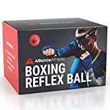 Boxing Reflex Ball – Verstellbares Stirnband, Reaktionsball und elastische Schnur. Trainingsball für Boxen, MMA und Kickboxen. Verbessern Sie Schlaggenauigkeit, Timing, Reflexe und Koordination.