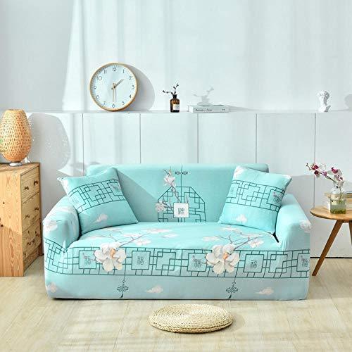 Funda Sofa Elastica Protector Adaptable,Funda de sofá de impresión general de cuatro estaciones, funda protectora de muebles elástica antideslizante de tela todo incluido, lavable-25_190-230cm