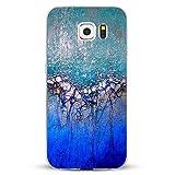 Alsoar - Carcasa para Samsung Galaxy S6 Edge Plus con diseño de mármol, fina y ligera, de silicona transparente, antideslizante, antiarañazos y suave TPU Marmo6 M