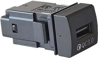 【CARKLEID】トヨタ 高速充電USBポート QC3.0 急速充電 スマホ iPhone 充電 タブレット 差し込み口 アクセサリー 内装パーツ カスタムパーツ【カムリ 70系】
