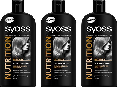 Syoss - Shampooing - Nutrition - 500 ml - Lot de 3