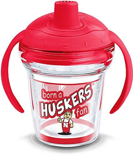 Tervis NCAA Nebraska Cornhuskers Born a Fan Sippy Cup with Lid, 6 oz, Clear